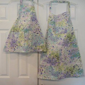 mother daughter aprons #455 &469